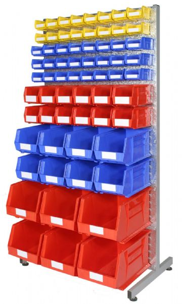 Double Sided Louvre rack with bins -  Kit A